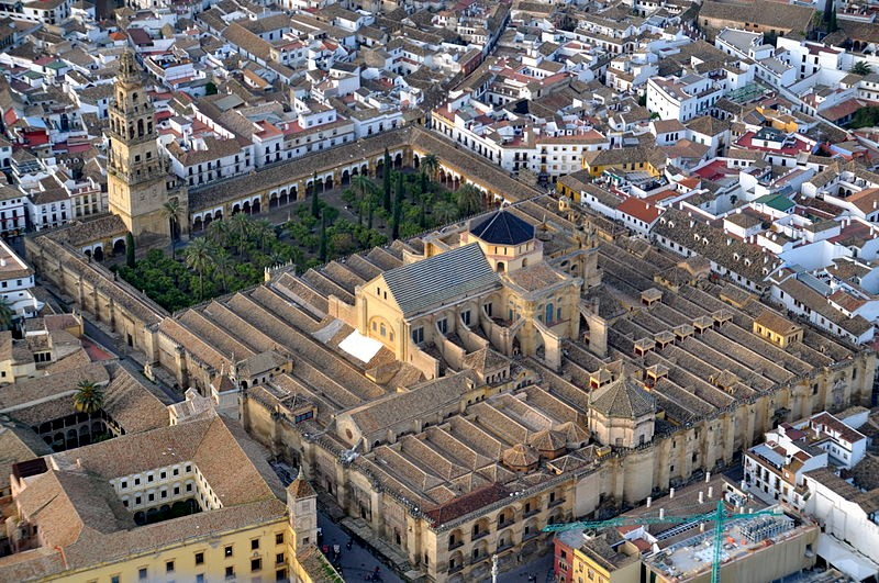 Photo 1. The Cathedral / Mesquita in the centre of the old town of Cordoba. By Toni Castillo Quero (Flickr: [1]) [CC BY-SA 2.0 (https://creativecommons.org/licenses