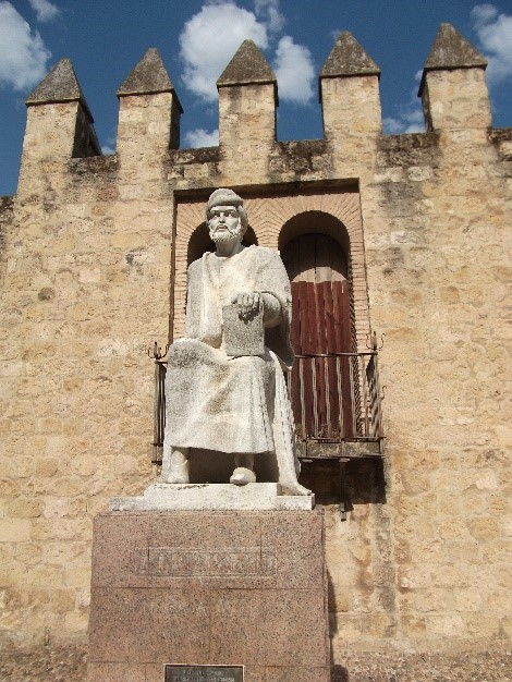 Photo 20. Statue of   Averroes near the Puerta de la Luna.