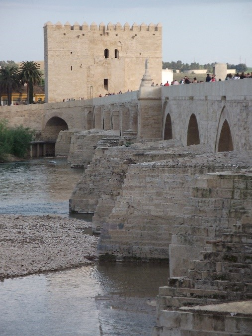 Photo 2. The Puente Romano over the River Guadalquivir, build on Roman foundation, with the Torre de la Calahorra on the far side.