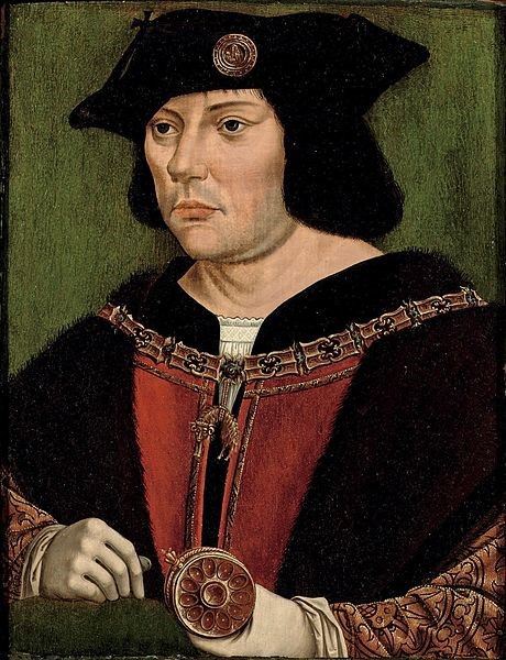 Photo 6  Guillaume (William) de Cry, Lord Chievres, who played a major role in Charles V's education .  Circle of Quentin Matsys [Public domain], via Wikimedia Commons