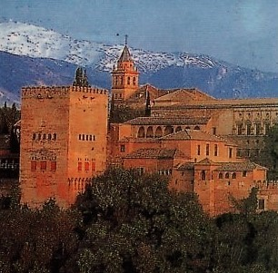 Photo 1. The Alhambra with the Sierra Nevada in the background.