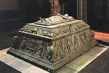 The tomb of Juan, prince of Asturias, son of Isabella and Ferdinand, heir to Castile and Aragon and the first husband of Margaret of Austria until his death in 1497. Real Monasterio de Santa Tomas, Avila. By Mrabulense (Own work) [Public domain], via Wikimedia Commons