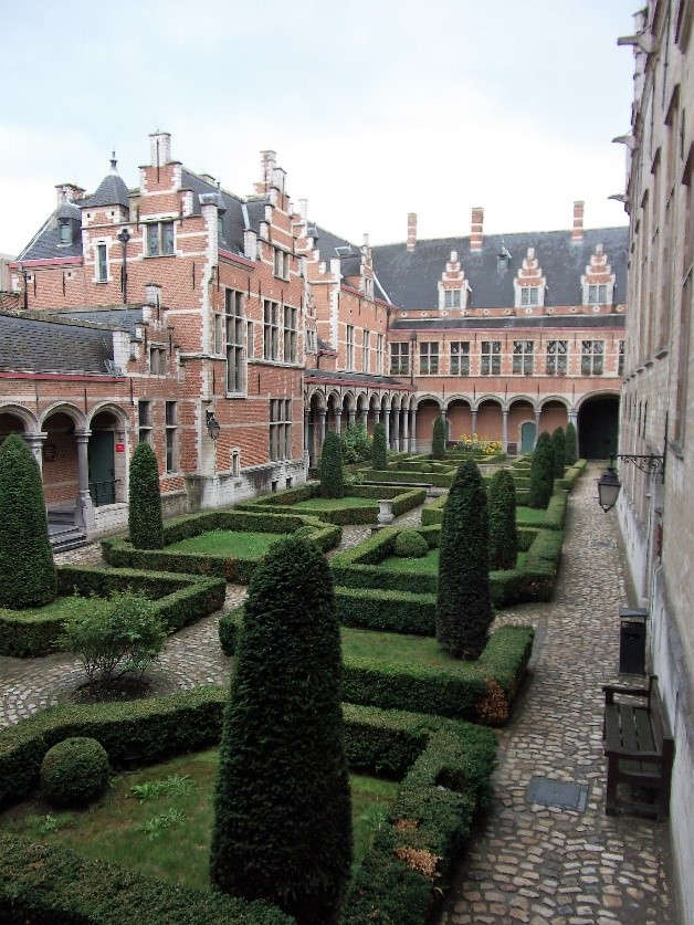 Photo 5. The courtyard of the Palace of Margaret of Austria, the centre of political life in the Low Countries in Charles' youth.