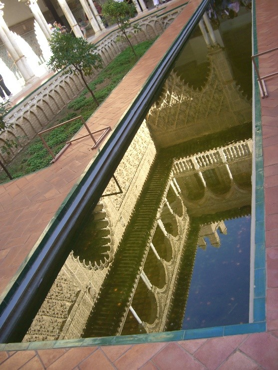 Photo 3. Reflection in the pool in the Patio de las Doncellas (Court of the Maidens)