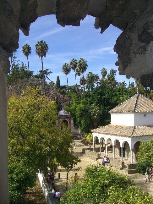 Photo 6. The gardens of the Reales Alcazares.