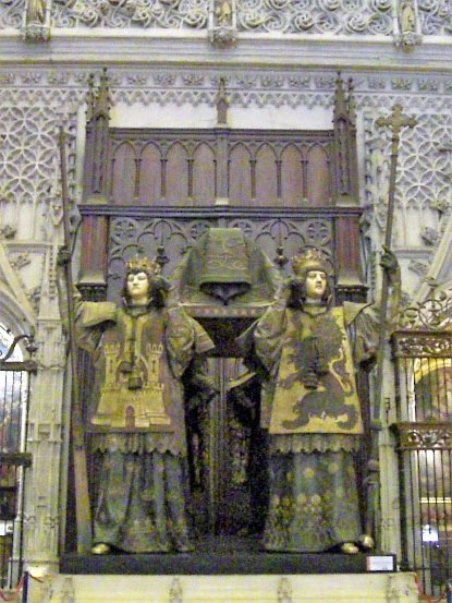 Photo 8. The tomb of Christopher Columbus in Seville Cathedral.