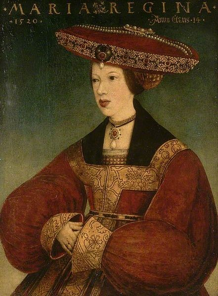 Mary of Hungary c. 1520 - Hans Maler zu Schwaz [Public domain], via Wikimedia Commons