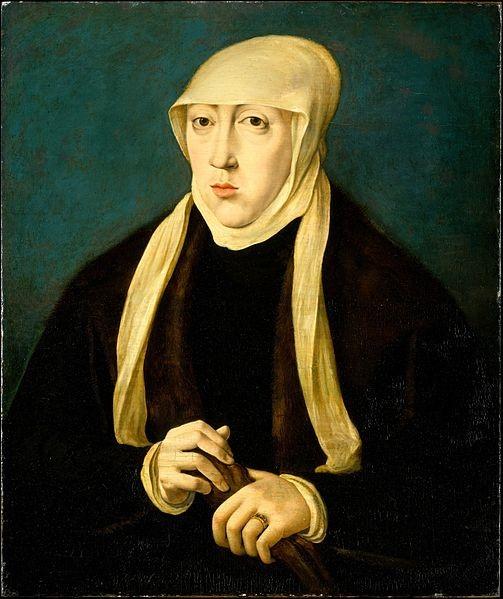 Mary of Hungary c. 1531 - Jan Cornelisz Vermeyen - Metropolitan Museum of Art [CC0], The Linsky Collection, 1982   via Wikimedia Commons
