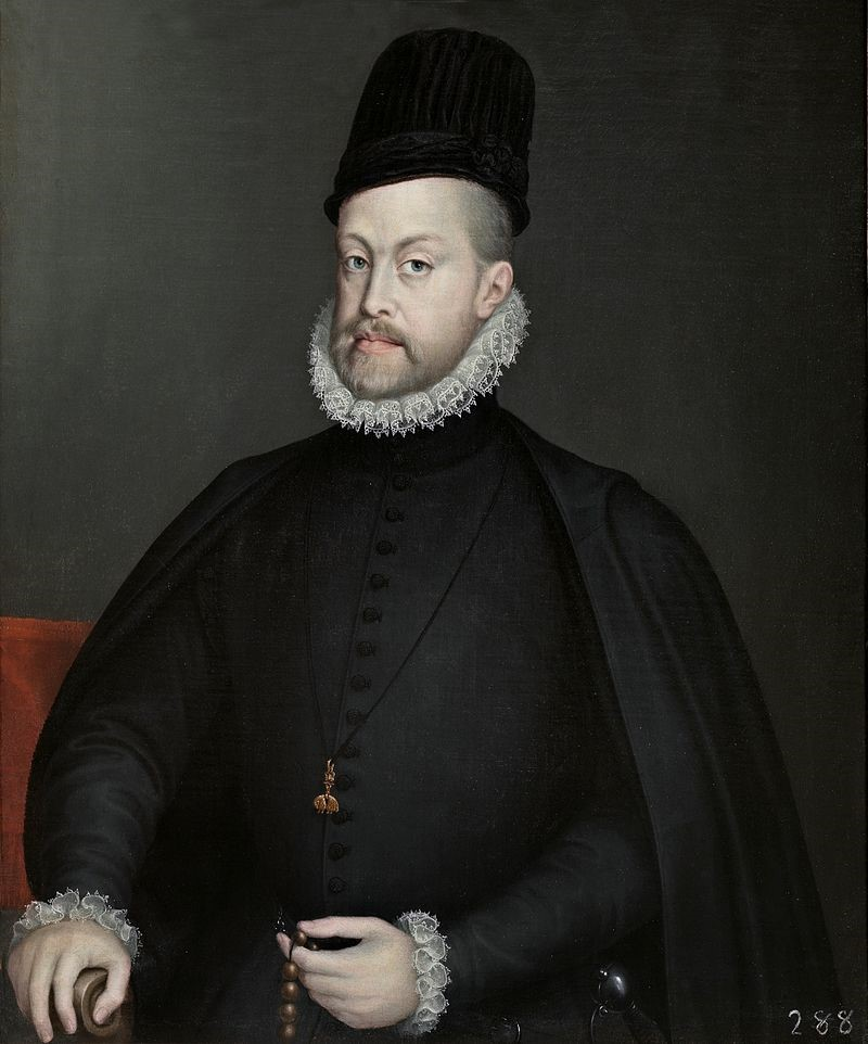 Philip II in 1573 by Sofonisba Anguissola (Museo del Prado.) [CC BY-SA 4.0 (https://creativecommons.org/licenses/by-sa/4.0)], via Wikimedia Commons