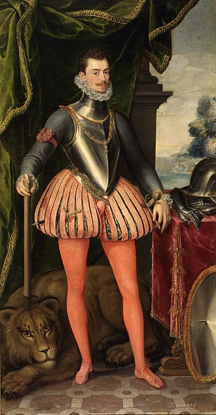 Don John of Austria (in his 20's). Attributed to Juan Pantoja de la Cruz. Second half of 16th century. Museo del Prado, Madrid / El Escorial. [Public domain], via Wikimedia Commons