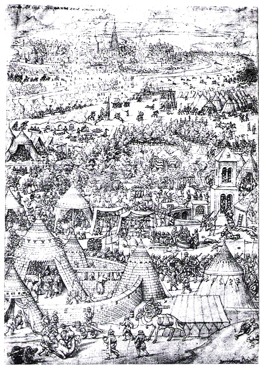 A contemporary engraving of the siege of Vienna 1529 by Bartholomäus Beham [Public domain], via Wikimedia Commons