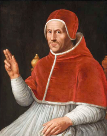 Adrian Floriszoon Boeyens, known as Adrian of Utrecht, tutor to the young Charles, appointed regent for Charles in Spain in 1520, seen here after his election as pope.  Centraal Museum of Utrecht. Jan van Scorel (1523) [Public domain], via Wikimedia Commons