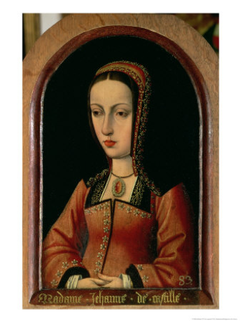 Juana of Castile c. 1495 Master of the Legend of the Magdalen. Kunsthistorisches Museum, Vienna.  [Public domain], via Wikimedia Commons