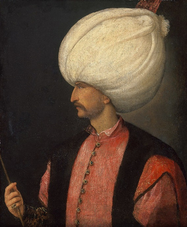 Suleiman the magnificent (or Law-Giver) By Titian c. 1530  Kunsthistorisches Museum,Vienna.  Public Domain, https://commons.wikimedia.org/w/index.php?curid=2646041