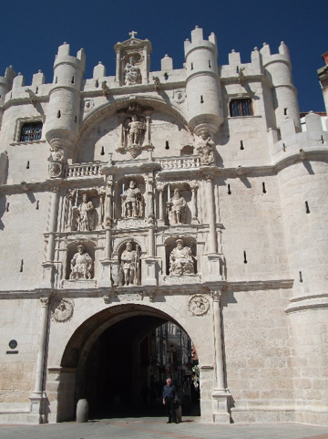 The Arco de Santa Maria – one of the twelve medieval entries to Burgos - rebuilt by Charles V. His figure is the central statue