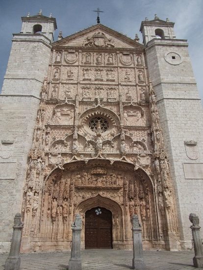 The façade of the church of San Pablo, Valladolid, where Charles was acknowledged as king of Castile.