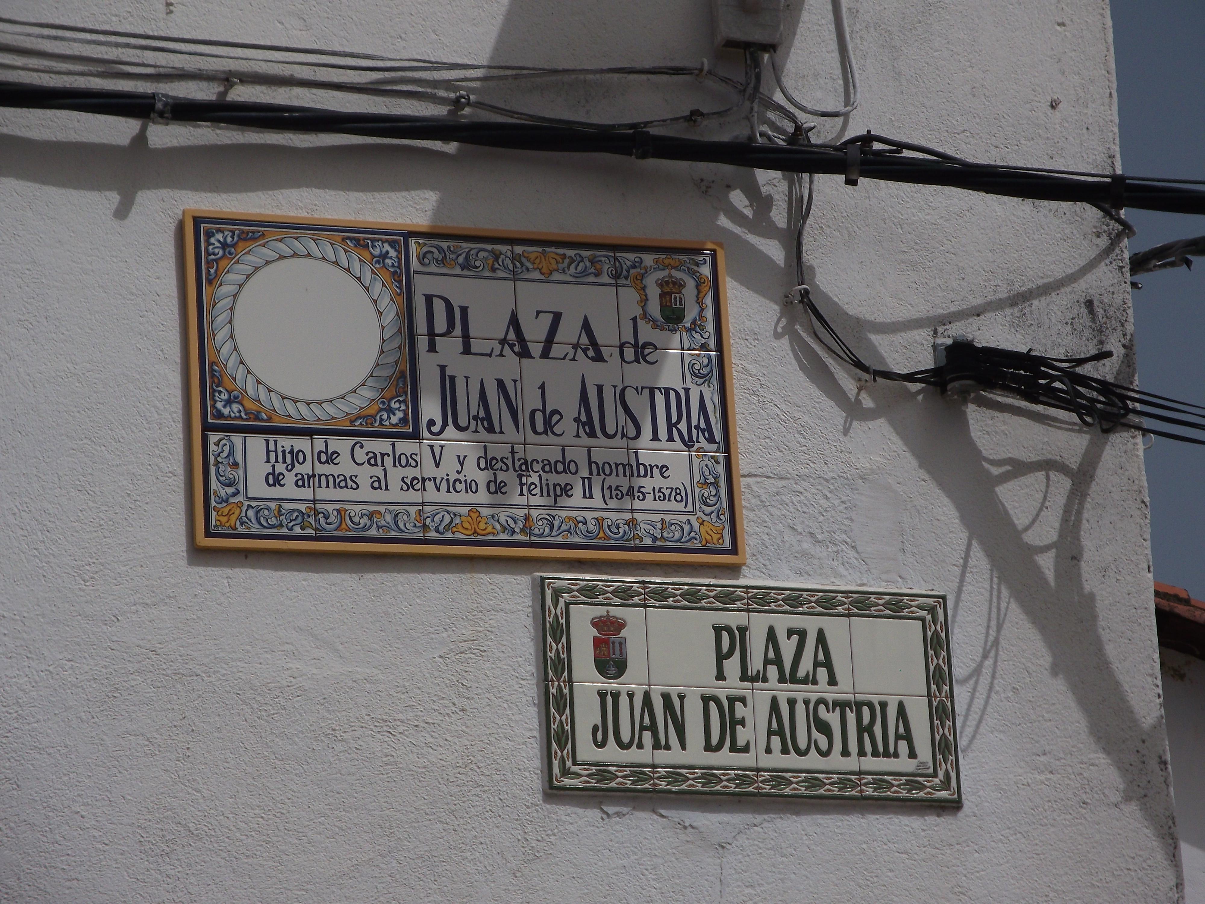 Square in Cuacos de Yuste named afdter Charles V's natural son.