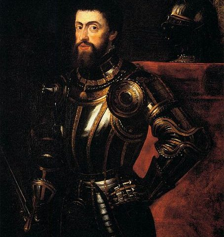Rubens' portrait of Charles V, a copy of Titian's original.