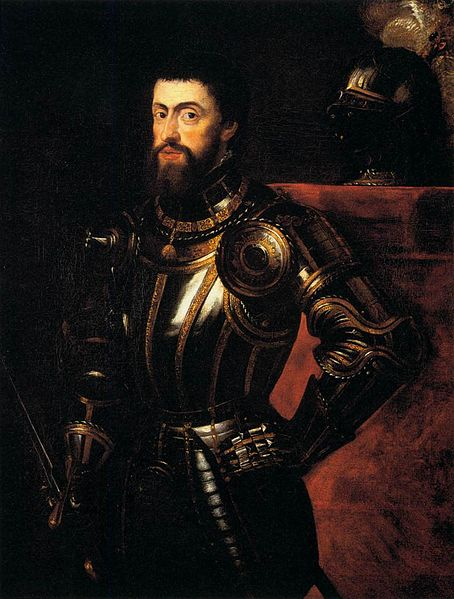 Rubens' portrait of Charles V, a copy of Titian's original.