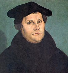 Martin Luther (1529) by his friend Lucas Cranach the Elder