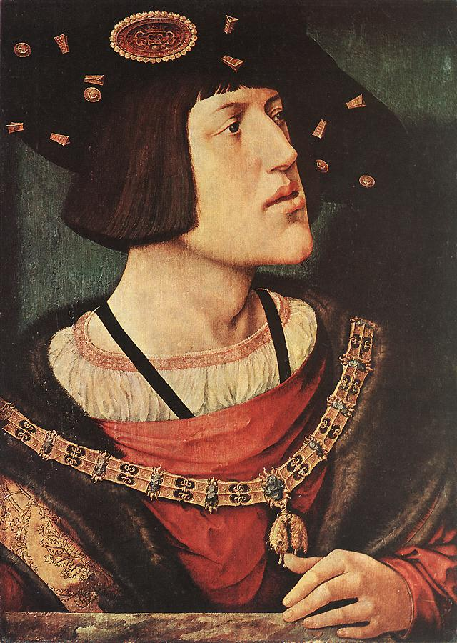 Charles V in c.1519 Bernard van Orley. Budapest Museum of Fine Arts.