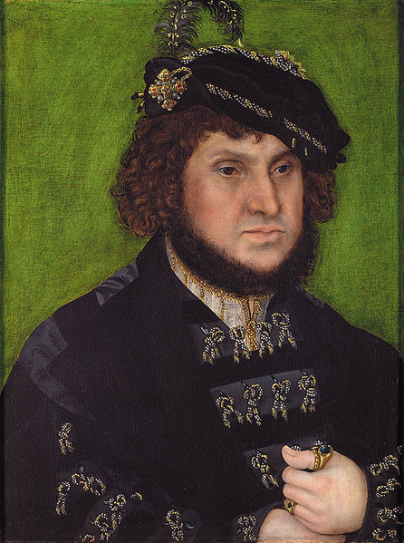 Elector John the Constant (Steadfast) c.1509, Lucas Cranach the Elder. National Gallery.