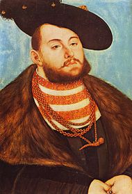 John Frederick, Elector of Saxony from 1532 until 1547. Lucas Cranach the Elder c.1531. Louvre Museum.