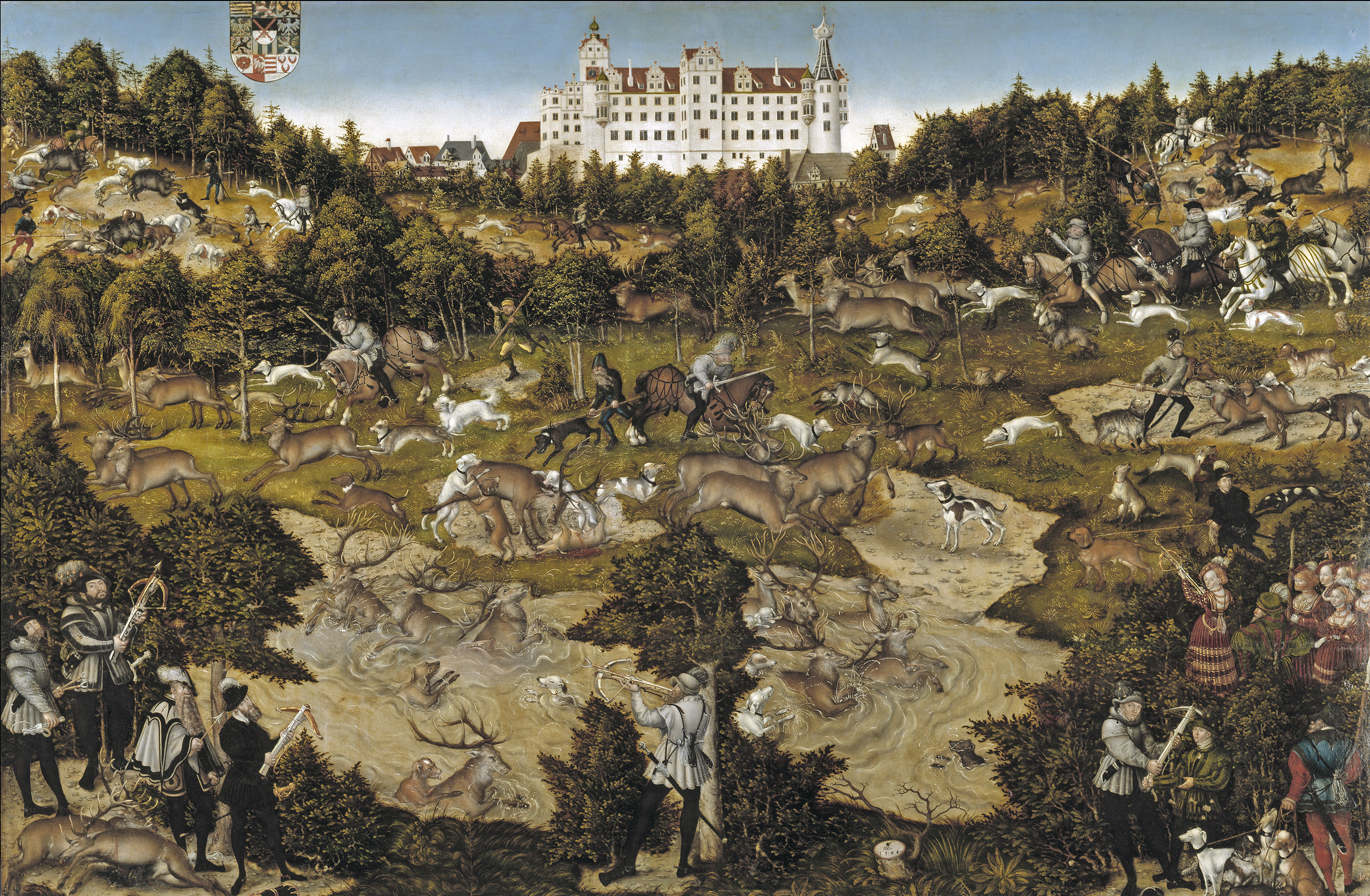 Lucas Cranach the Elder - Hunt at Torgau in honour of Emperor Charles V (1544) Museo del Prado