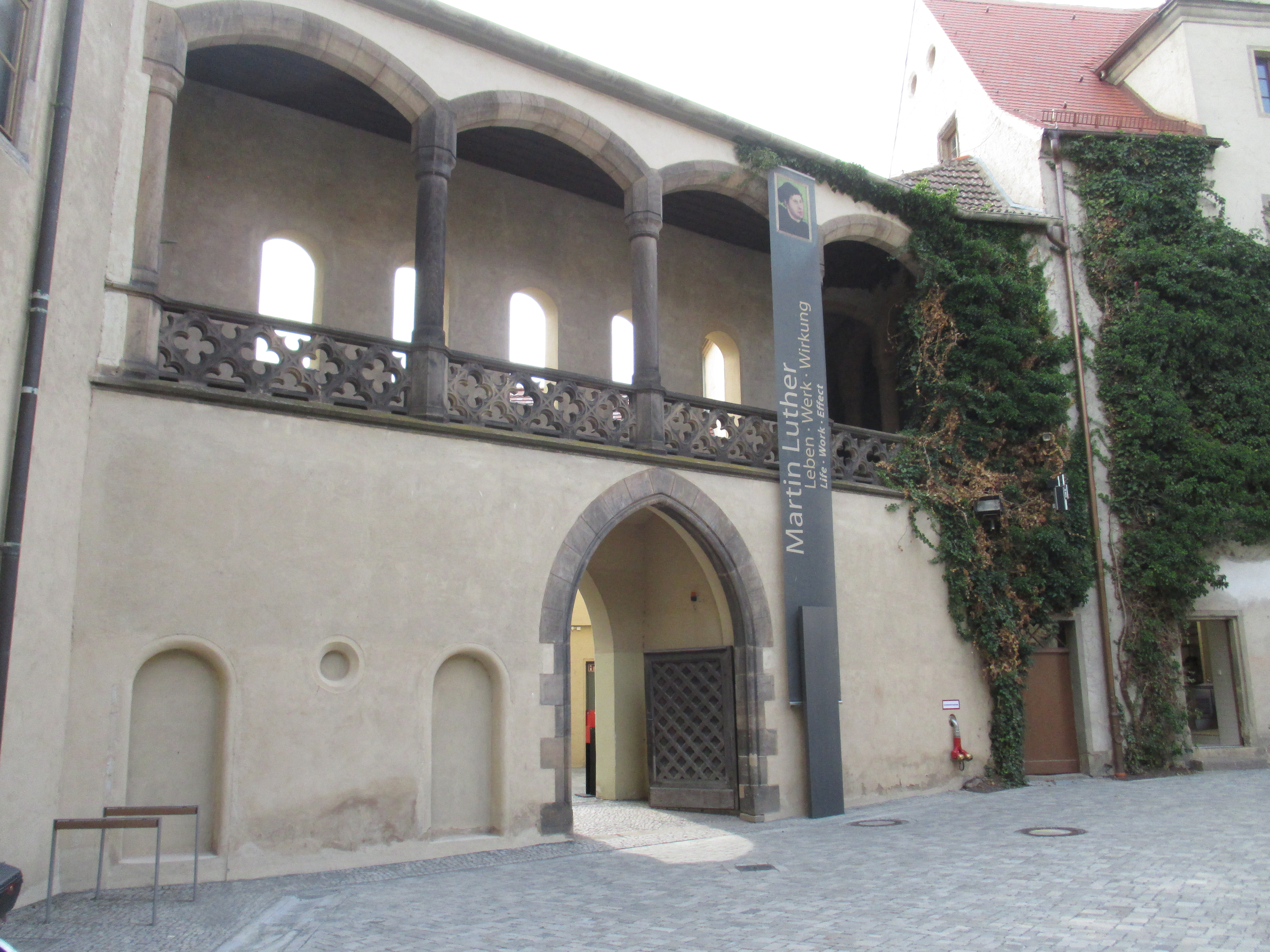 The Lutherhaus - exhibition entrance