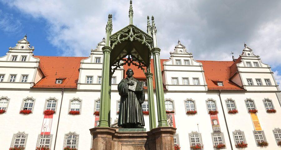 Statute of Martin Luther in the Marktplatz.